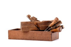 De hulpmiddelen van de timmerman Stock Foto's