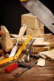De hulpmiddelen van de timmerman Royalty-vrije Stock Fotografie