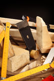 De hulpmiddelen van de timmerman Royalty-vrije Stock Afbeelding