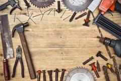 De hulpmiddelen van de timmerman royalty-vrije stock afbeeldingen