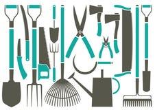 De hulpmiddelen van de tuin Royalty-vrije Stock Afbeeldingen