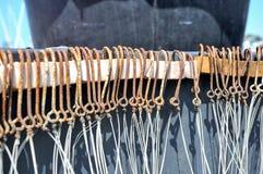 De hulpmiddelen van de vishaakvisser Stock Afbeelding