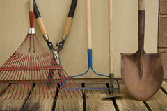 De Hulpmiddelen van de werf en van de Tuin Royalty-vrije Stock Fotografie