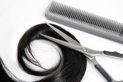 De hulpmiddelen van het haar en van de kapper Stock Afbeeldingen