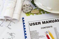 Het Handboek van de instructie Stock Afbeelding