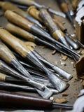 De hulpmiddelen van het houtsnijwerk Royalty-vrije Stock Foto's