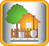 De hulpmiddelen van het huis en van de tuin Stock Afbeelding