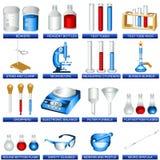 De hulpmiddelen van het laboratorium Stock Fotografie