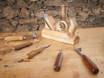 De hulpmiddelen van het timmerwerk Stock Fotografie