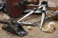 De hulpmiddelen van het timmerwerk royalty-vrije stock foto