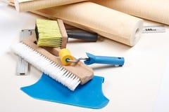 De hulpmiddelen van Wallpapering Stock Fotografie