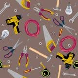 De hulpmiddelen vlakke illustratie van de textuurbouw royalty-vrije stock foto's