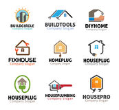 De Hulpmiddelenontwerp van het huisloodgieterswerk Stock Foto's