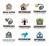 De Hulpmiddelenontwerp van het huisloodgieterswerk Stock Afbeeldingen