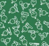 De hulpmiddelenpatroon van kinderen Stock Afbeeldingen