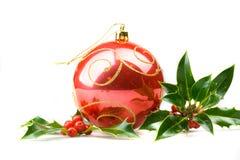 De hulst van Kerstmis stock fotografie