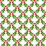 De hulst van Kerstmis Naadloos feestelijk patroon, decoratie Achtergrond, het behandelen of behang Vector royalty-vrije illustratie