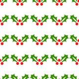 De hulst van Kerstmis Naadloos feestelijk patroon, decoratie Achtergrond, het behandelen of behang Vector vector illustratie