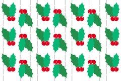 De hulst van Kerstmis op witte achtergrond Royalty-vrije Stock Afbeelding