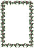 De hulstgrens 1 van Kerstmis Vector Illustratie