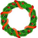 De hulstkroon van Kerstmis Stock Foto's