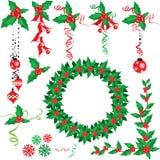De hulstreeks van Kerstmis Stock Afbeeldingen