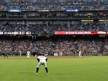 De hurkzit van Cody Ross van Outfielder klaar voor spelactie Stock Foto