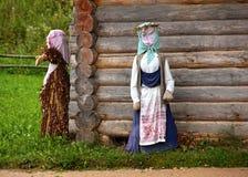De hut in het Russische dorp Royalty-vrije Stock Foto's