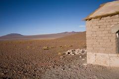 De hut van de adobe, Bolivië royalty-vrije stock foto's