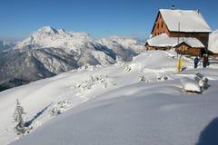 De hut van de berg Royalty-vrije Stock Foto
