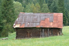 De hut van de herder Stock Afbeelding