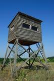 De hut van de jacht Stock Afbeeldingen