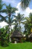 De hut van de massage in de Dominicaanse Republiek Royalty-vrije Stock Fotografie