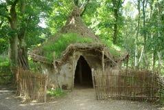 De Hut van de Modder van Afrika. Stock Fotografie