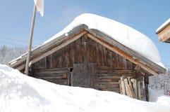 De hut van de ski Stock Fotografie