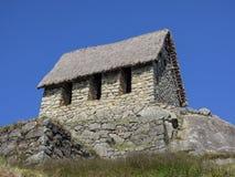 De hut van de steenbewaker in Machu Picchu Peru Royalty-vrije Stock Afbeeldingen
