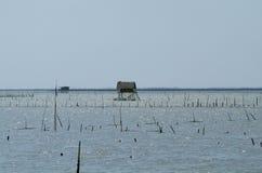 De hut van de visser in Thailand royalty-vrije stock afbeeldingen