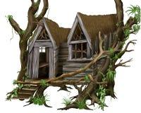 De Hut van de wildernis royalty-vrije illustratie