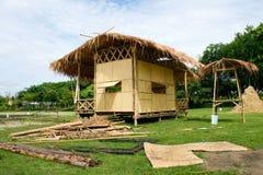 De hut van het bamboe - Underconstruction Royalty-vrije Stock Fotografie