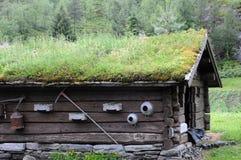 De hut van het landbouwbedrijf dichtbij Loen Royalty-vrije Stock Afbeelding