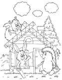 De hut van het logboek van dieren Royalty-vrije Stock Fotografie