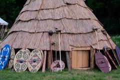 De hut van de strijder stock foto's