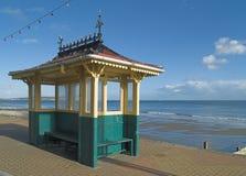 De hutschuilplaats van het strand Stock Foto