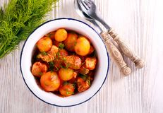 De hutspot van Turkije en van de aardappel stock afbeeldingen