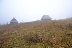 De hutten van de berg in Tatra bergen, Polen Stock Afbeelding