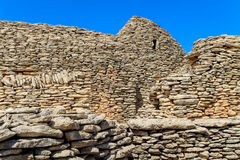 De hutten van de steen in het Dorp des Bories dichtbij Gordes royalty-vrije stock foto's