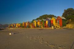De hutten van het strand Stock Afbeelding