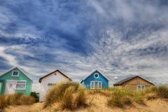 De hutten van het strand Stock Afbeeldingen
