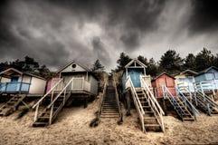 De hutten van het strand