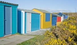 De hutten van het strand. Stock Foto